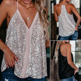 Sequin Loose Cami Tanks