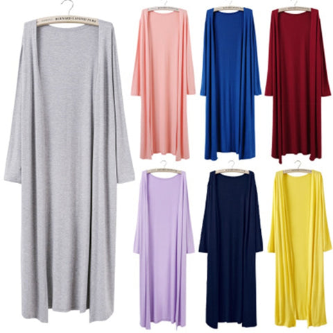 Long Knit Cardigan Dusters