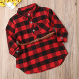 Girls Red Plaid Dress