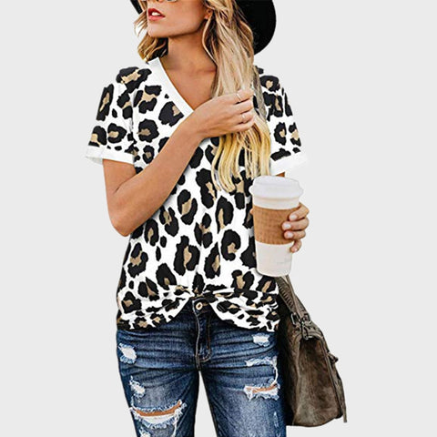 V-Neck Printed Tops