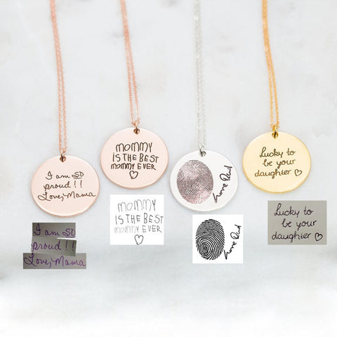 Personalized Children Drawing Necklace
