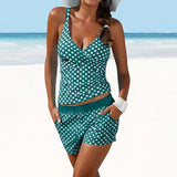 Polka Dot Tankini Shorts Set