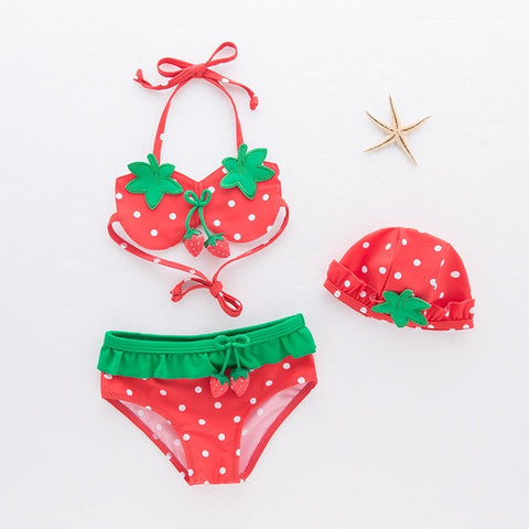 Girls 3 Piece Swimsuit Sets