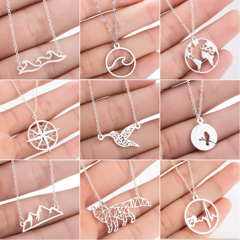 Waves & Mountains Necklaces