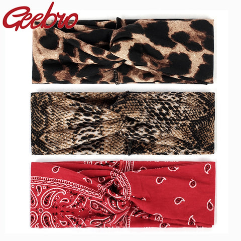 Pattern Headbands - Leopard & Snake