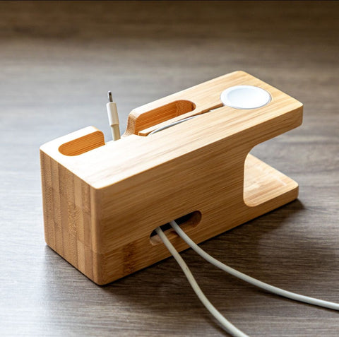 Personalized Wood Charging Station