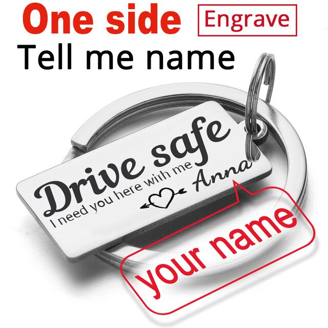 Personalized Drive Safe Keychains