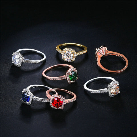Colorful Crystal Rings