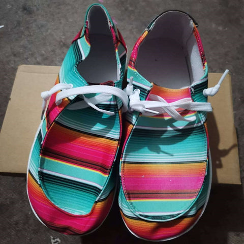 Serape & Sunflower Canvas Shoes