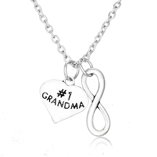 Infinity Heart Charm Necklaces