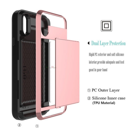 Side Slot Wallet Phone Case