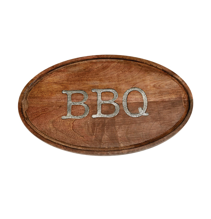Oval Wood BBQ Serving Tray