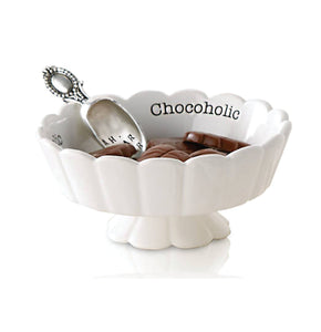 Chocoholic Pedestal Candy Dish