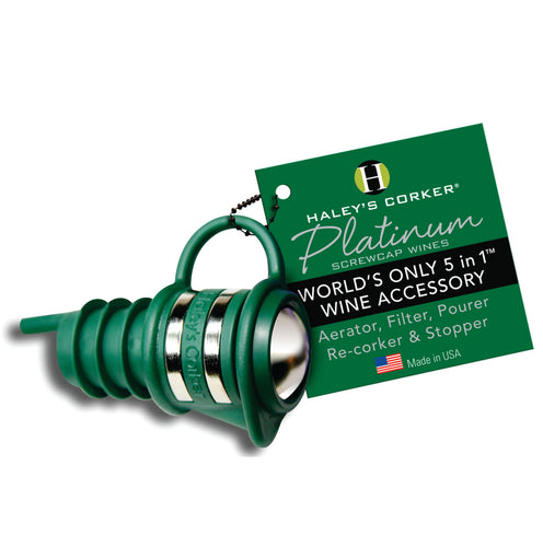 Haley's Corker Platinum - Green (Screw Cap Bottles Only)