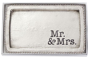Mr & Mrs Beaded Tray