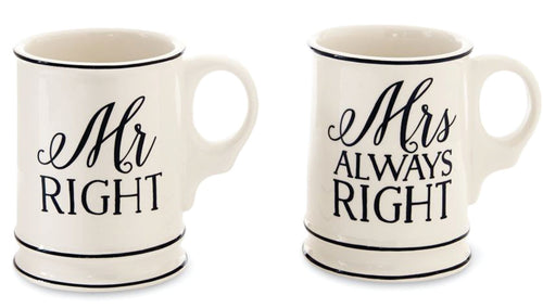 Mr. And Mrs. Right Mugs