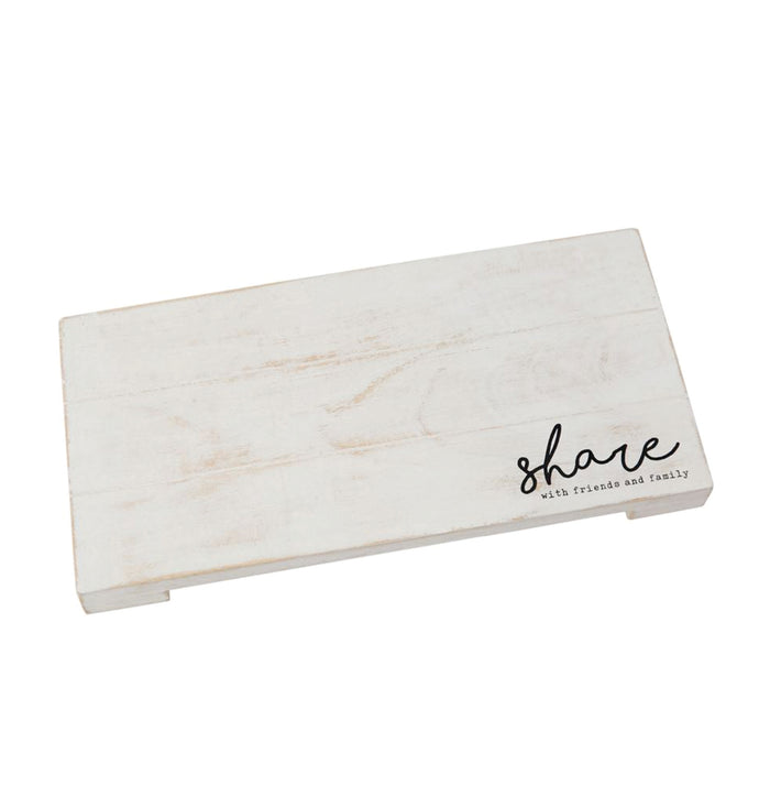 Share Planked Wood Snack Serving Board