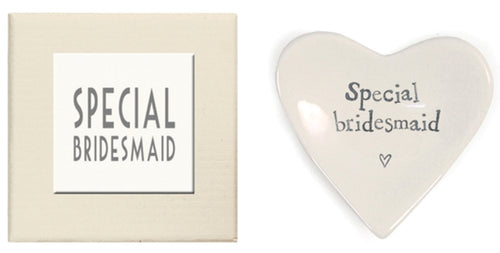Special Bridesmaid Heart Dish