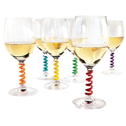 Multi-Colored Spring Wine Charms
