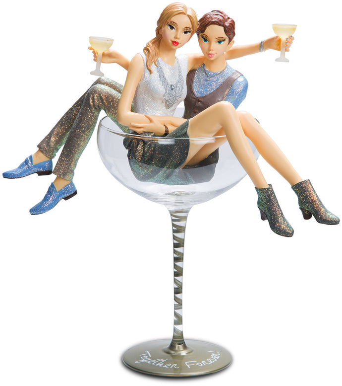 Together Forever Champagne Glass With Figurines
