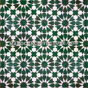 Moroccan 12 pointed star mosaic tile
