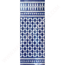 handmade modern Moroccan mosaic tiles with mosaic liner and border by Maroc Architecture et Zellij