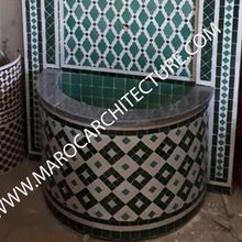 Moroccan mosaic fountains by Maroc Architecture et Zellij