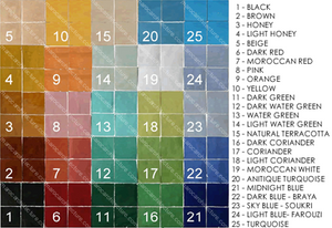 50 pointed star Moroccan mosaic tile colors by Maroc Architecture et Zellij