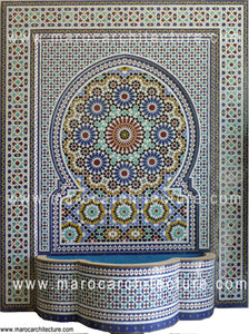 Mosaic wall fountain 2401