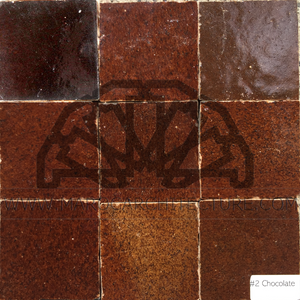 Moroccan chocolate brown zellij tiles