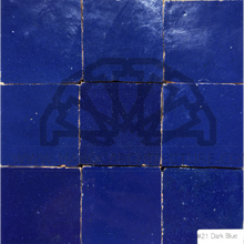 Moroccan dark blue zellij tiles