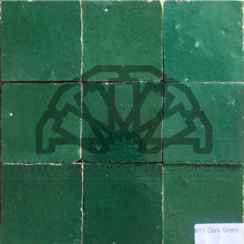 Moroccan dark green zellij tiles