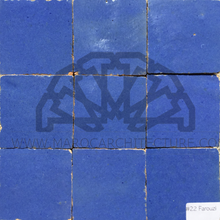 Moroccan light blue zellij tiles