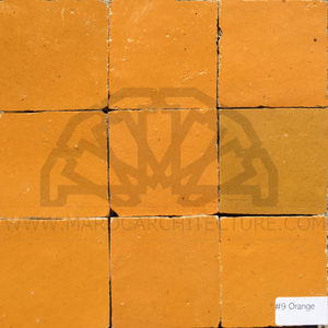 Moroccan orange zellij tiles