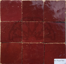 Moroccan royal red zellij tiles