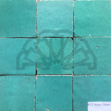Moroccan water green zellij tiles