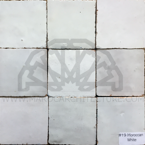 Moroccan white color zellij tiles