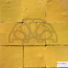 Moroccan yellow color zellij tiles