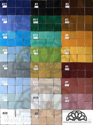 MOROCCAN TILE COLORS