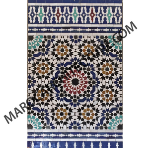 SIXTEEN POINTED STAR 16167B MOROCCAN MOSAIC TILE BY MAROC ARCHITECTURE ET ZELLIJ