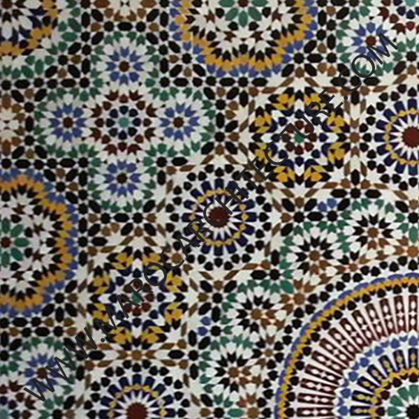 Fifty Pointed Star Moroccan Mosaic 50104