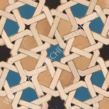 ALHAMBRA MOSAIC 1690 – 12 pointed star with laces