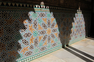 ALHAMBRA AM89 – 8 pointed star mosaic with laces