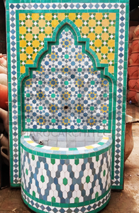 Moroccan mosaic fountain