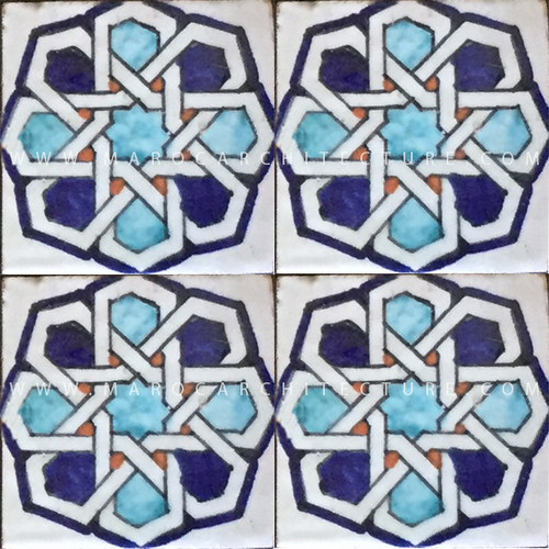 Sevilla Moroccan hand painted tiles