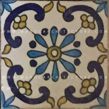 handpainted moroccan tiles for stair risers