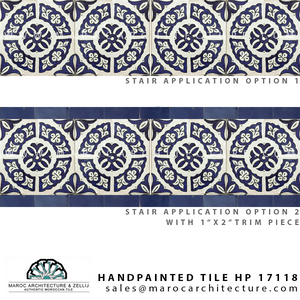 handpainted moroccan tiles for stairs