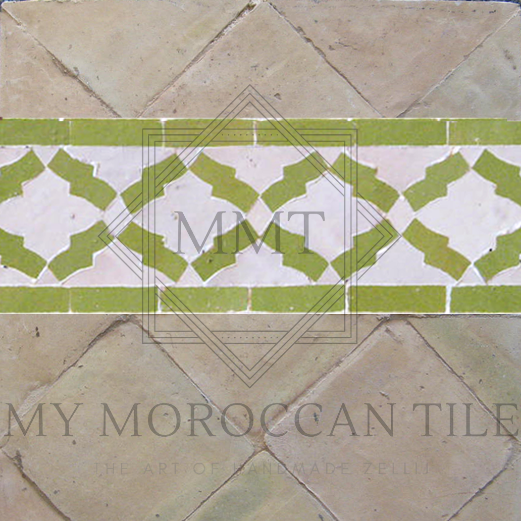 Arabesque mosaic border
