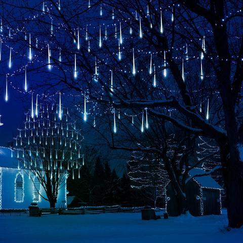 snowfall led christmas lights free shipping