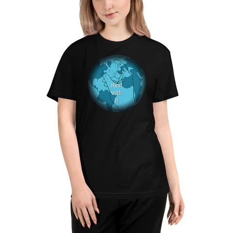 Heal With It Earth Rock Skipping Heart Beat Sustainable Yoga T-Shirt